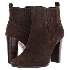 NEW Nine West Suede Leather Ankle Boot Olive